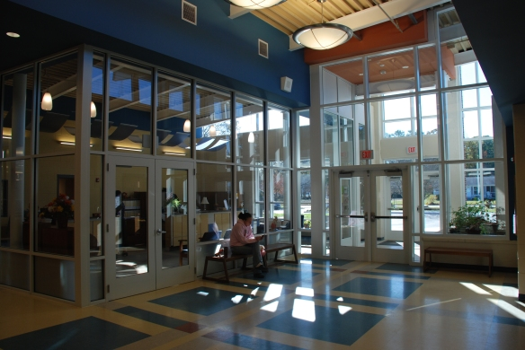 This renovation included a new security vestibule, which directs visitors  through the front office of the school to check-in.
